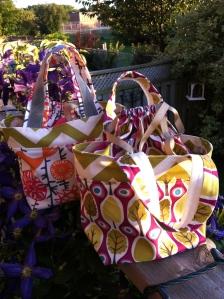 Drawstring bags.